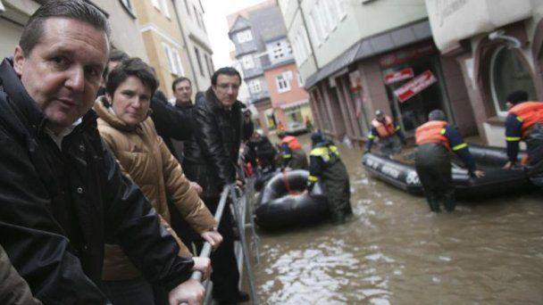 Эльба вышла из берегов и затопила прибрежные города