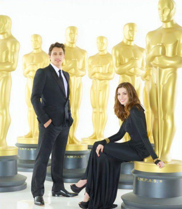 """Джеймс Франко и Энн Хэтэуэй готовятся к """"Оскару"""""""