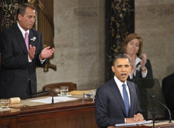 В этом году речь Обамы сорвала меньше аплодисментов, чем в начале его президентства