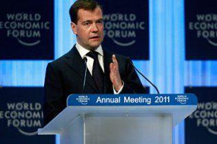 """Медведев в Давосе: теракт в """"Домодедово"""" не поставит Россию на колени"""