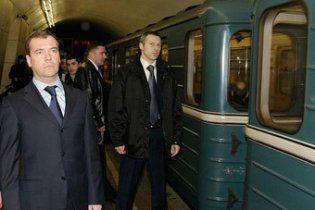 После визита Медведева в московское метро система безопасности перестала работать
