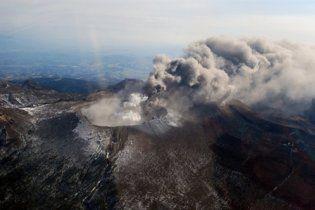 Японию накрыло облако вулканического пепла