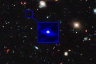NASA удалось сделать снимок древнейшей галактики Вселенной