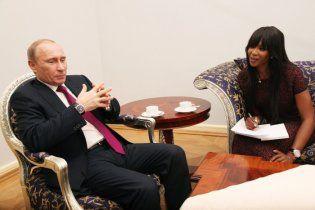 """После беседы с Наоми Кэмпбелл Путина назвали """"миленьким"""" вымирающим хищником"""