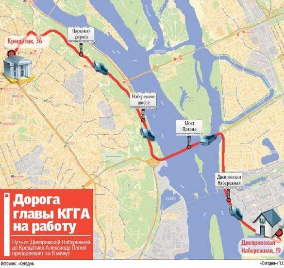 карта проїзду Попова