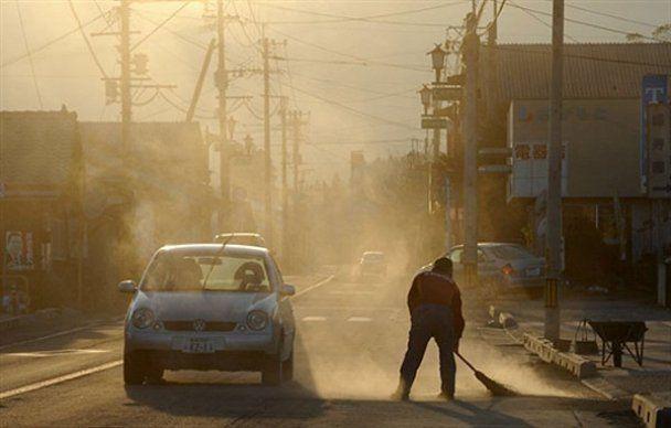 Мощное извержение вулкана в Японии