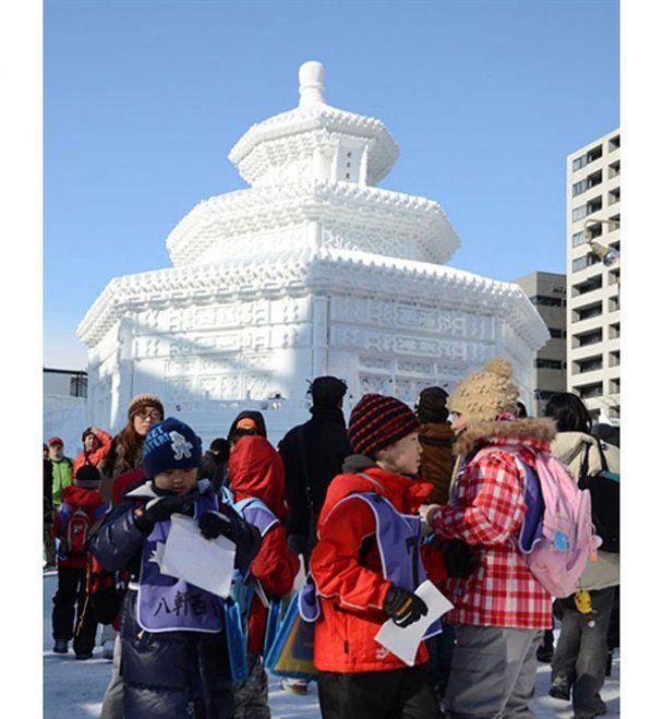 В Японии проходит фестиваль снега и льда