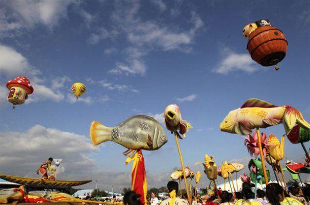Яркий фестиваль воздушных шаров на Филиппинах