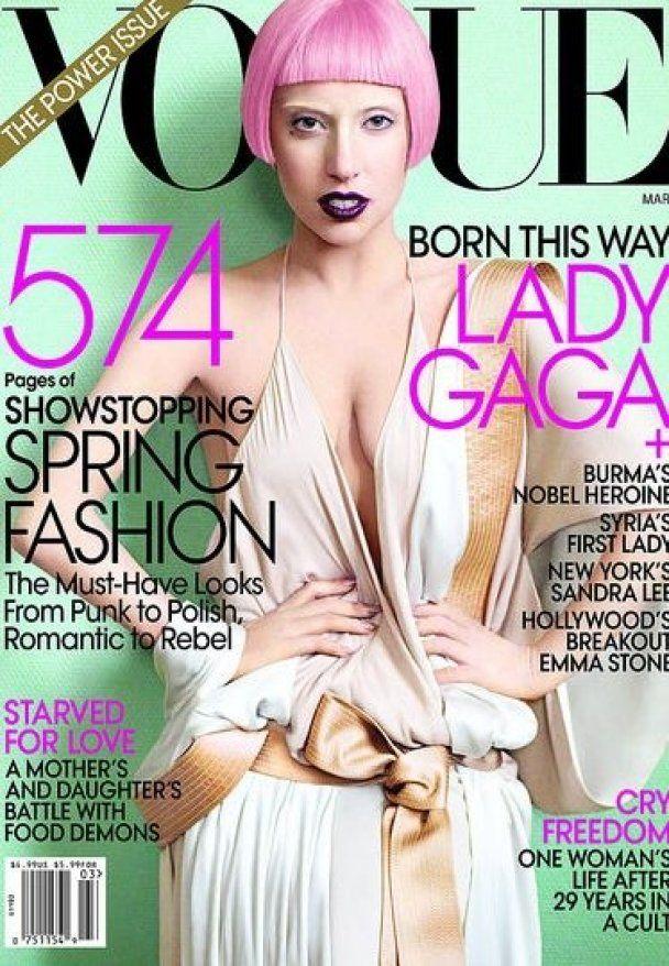 Lady Gaga снялась для обложки Vogue