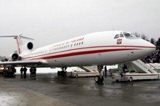 Польський міністр вперше після аварії літака Качинського полетів на Ту-154