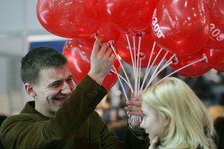 В Днепропетровске влюбленная пара обвенчалась в проруби