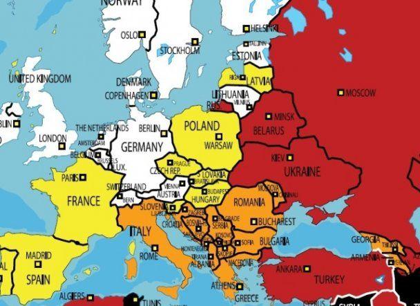 """""""Репортеры без границ"""" закрасили украинскую свободу слова красным"""