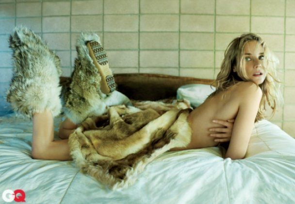 Гола Діана Крюгер у хутрі для GQ
