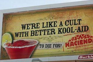 Рекламу ресторанов в США осудили за призыв к самоубийству