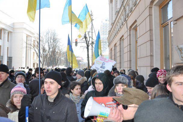 """Студенты опять требуют отставки Табачника: """"Студент - не крипак! Министр - м ... ак!"""""""