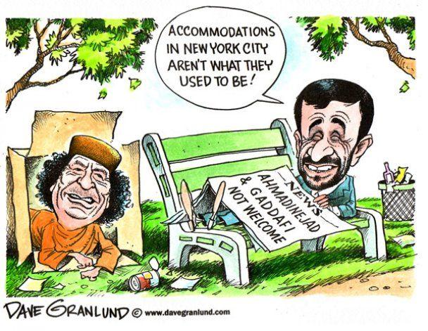 """В Ливии появилоь новое """"оружие"""" против Каддафи: по всей стране расклеены карикатуры на него"""
