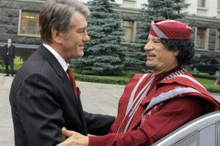 У Каддафи хотят отобрать почетный украинский орден