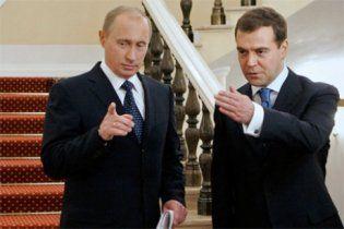 Путін заробив більше за Мєдвєдєва майже на два мільйони