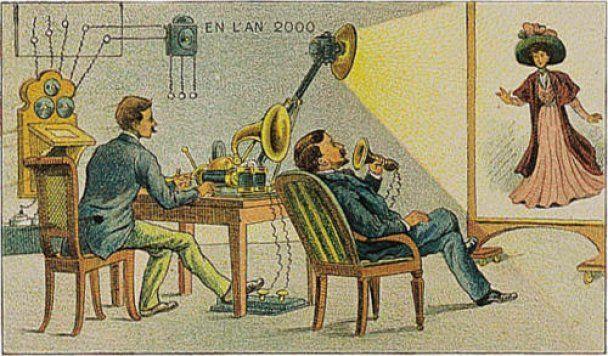 Найдены картины 1910 года, изображающие жизнь в 2000 году