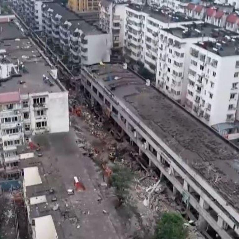 Масштабный взрыв на рынке в Китае: по меньшей мере12 человек погибли, продолжаются поиски пропавших без вести