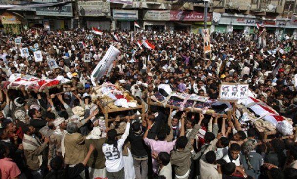 В революционном Йемене войска президента вступили в бой с оппозицией