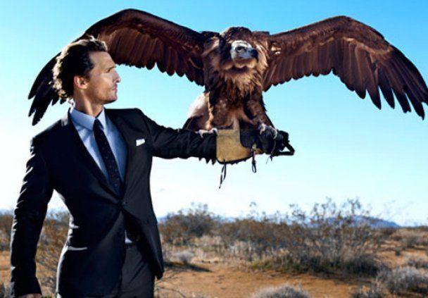 Метью Макконахі заради Esquire приручив птаха
