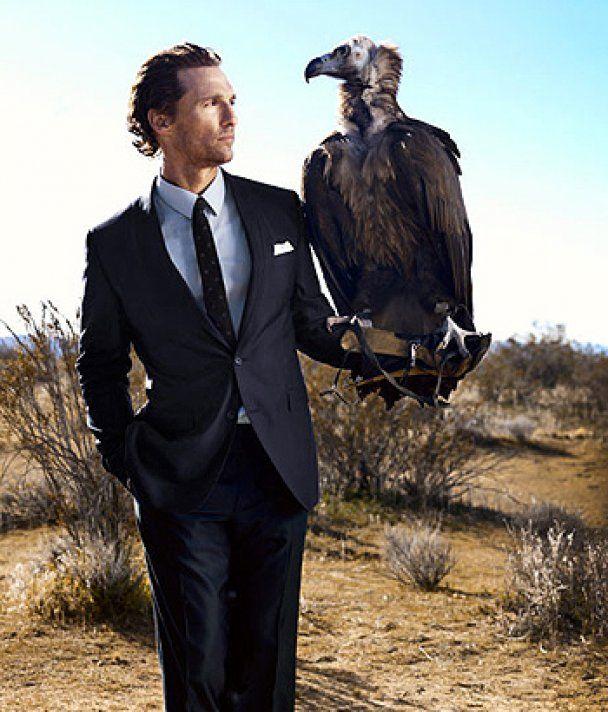 Мэтью Макконахи ради Esquire приручил птицу