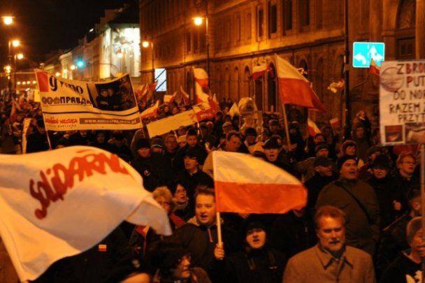 Поляки спалили опудало Путіна на роковини загибелі президента
