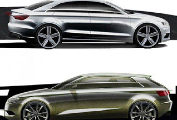 Audi опублікувала малюнки відразу двох нових моделей. Фото auto.mail.ru