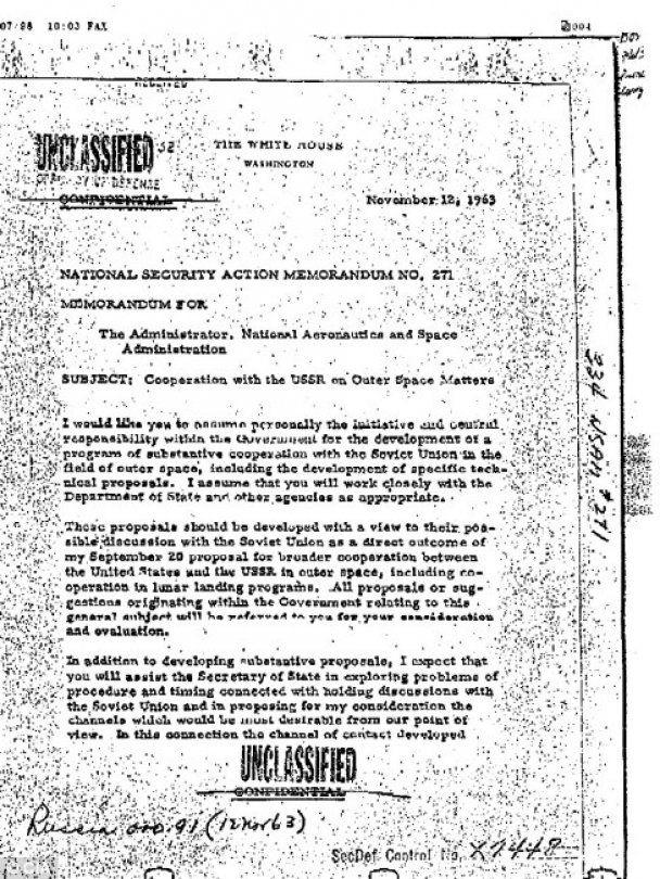 Кеннеди незадолго до гибели требовал у ЦРУ информацию об НЛО