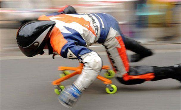 Швидкісні перегони на офісних стільцях у Німеччині