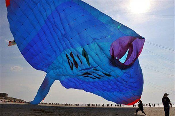 Запуск самого большого воздушного змея