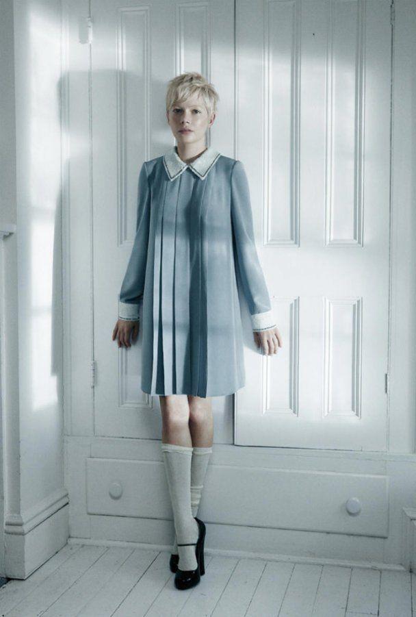 Мишель Уильямс призналась, что любит старинные платья