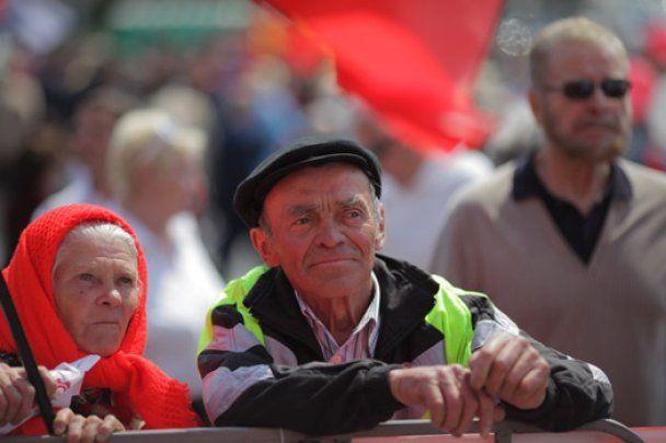 У Києві близько 5 тисяч комуністів провели мітинг