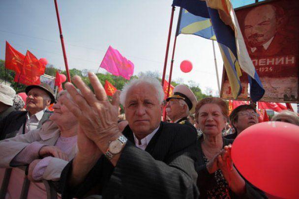 5 тысяч коммунистов провели в Киеве первомайскую демонстрацию