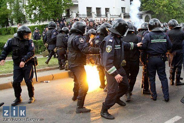 У Львові свободівці побилися з проросійськими активістами