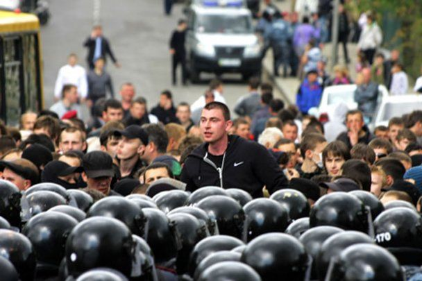 """Во Львове """"свободовцы"""" подрались с пророссийскими активистами"""