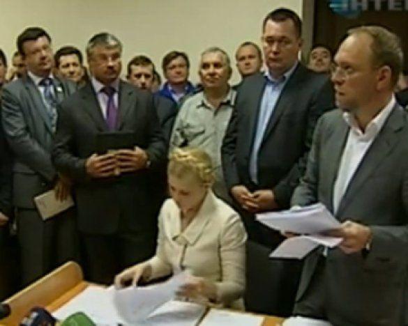 Юлія Тимошенко у суді. Кадр телеканалу Інтер