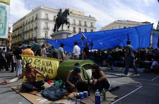 Испанская молодежь вышла на многотысячные митинги