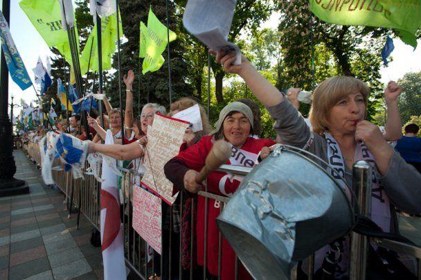 Весенний марш протеста оппозиции под стенами Верховной рады