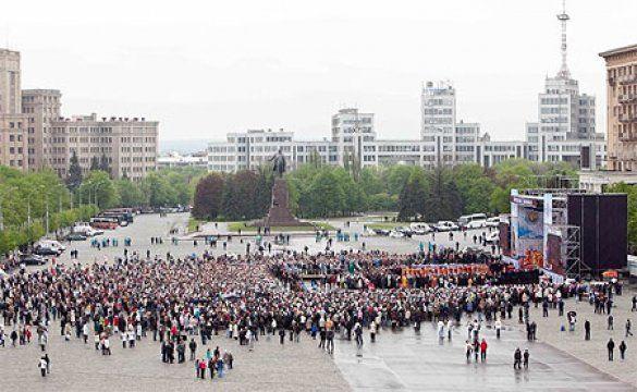 Кирило на площі у Харкові (не фотошоп)