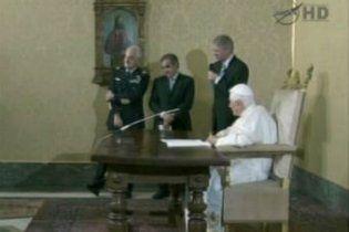 Папа Римський вперше подзвонив в космос