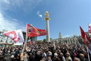 Участники митинга в Тбилиси потребовали доступа в прямой эфир