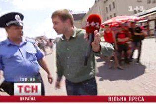 В Киеве на журналистов ТСН напали средь бела дня