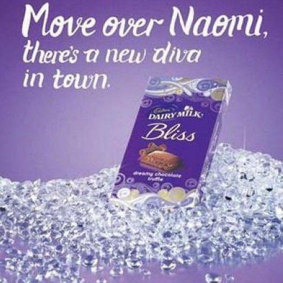 Реклама шоколадки із Наомі