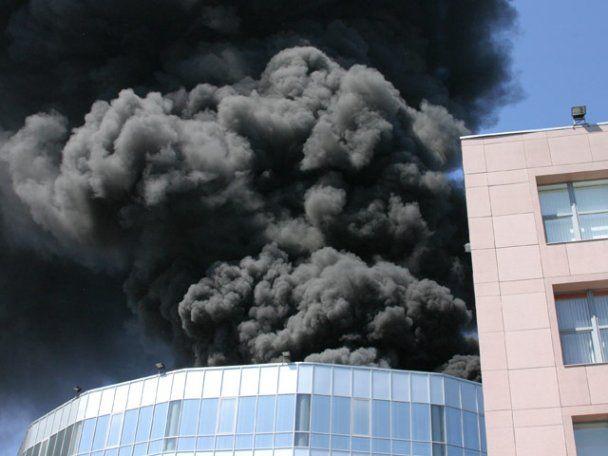 В Москве загорелся бизнес-центр, только что застрахованный на 4 млрд