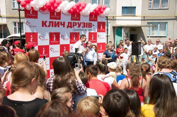 Віталій Кличко відкрив спортмайданчик у Березані
