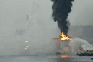 В Гибралтаре взорвался топливный склад