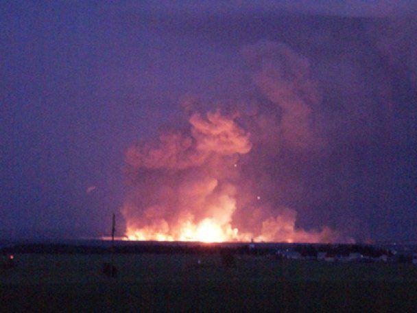 Від безперервних вибухів на складах боєприпасів в Удмуртії постраждали півсотні людей