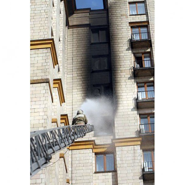 "В центрі Києва сталась пожежа в готелі ""Україна"""